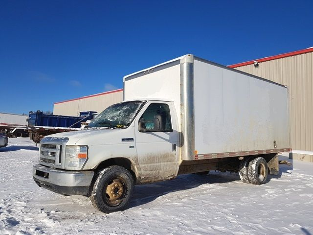 010 Ford E350. (Transmission problem)  5.4 liter V8 gas. Runs great. Good winter tires. Good 16.5' van body with loading ramp. Recently new radiator, brakes, fuel & water pump. Please contact for details umit#20-014