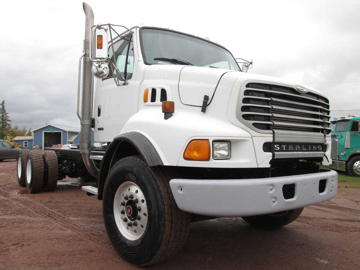2004 Sterling 9500 cab & chassis, Cat C-7 300HP engine, RT8908LL Transmission, Spring Hendrickson suspension, air brakes. RT40-145 differential 4.63 ratio with 4 way locks, Axle ratings 20000lbs front 40000lbs rear.  Axle spread 55