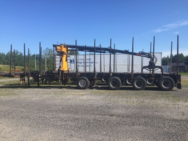 2011 FOREST TRAILEX (With Rotobec Elite 910 loader) - Stock #: F1023 - Type of trailer: Forestry - Number of axles: 4 axles - Length: 51 feet - Axle spacing: 72 Inches - Suspension: air-ride - Wheels: aluminum - Tires: 11R22.5 and 385 / 65R22.5 on the air-lift - Brakes: in the air - Equipment: Rotobec 2012 Loader Model Elite 910 - S.A.A.Q .: valid until January 2020 - Price on request only  Please note that we have two places where vehicles can be, either in Lévis or Saint-Georges. We suggest that you contact one of our experienced advisors to be informed of the geolocation of the vehicle before traveling.
